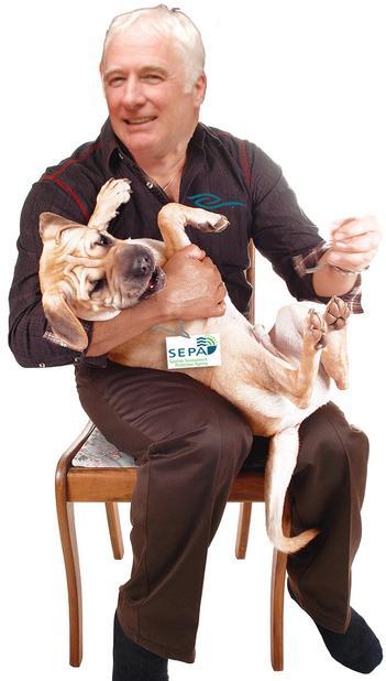 Scott with sepa lapdog