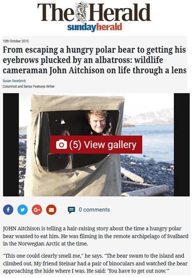 SP John Aitchison polar bear