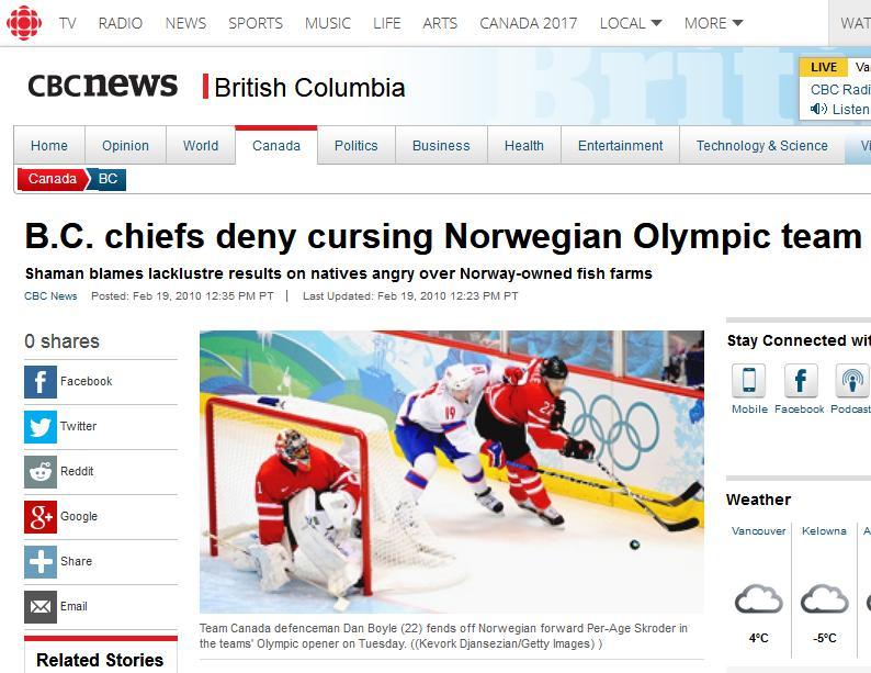 Olympic blog #12 cbc