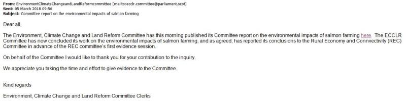 SP ECCLR Inquiry email