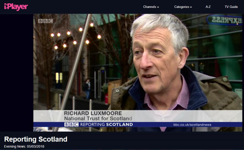 BBC News 5 March 2018 Reporting Scotland Richard Luxmore