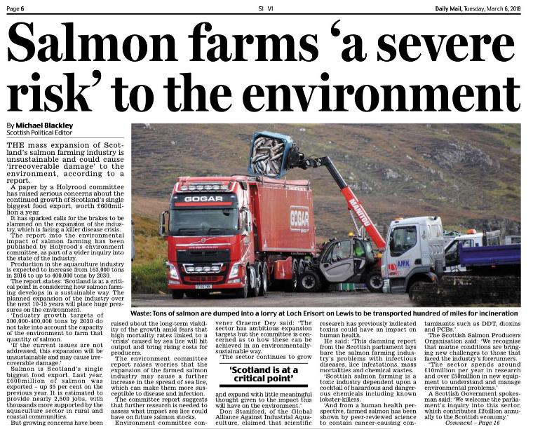 Daily Mail 6 March 2018 Severe Risk article