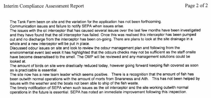 Shetland FOI documents SEPA compliance assessment #4