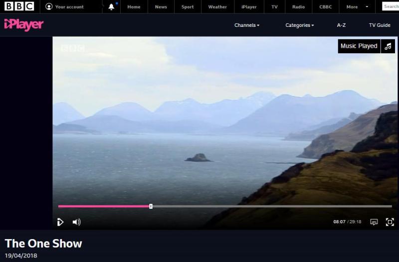 BBC One Show 19 April 2018 #7 Skye shot