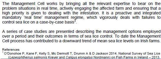 Sea Lice 2014 paper #2