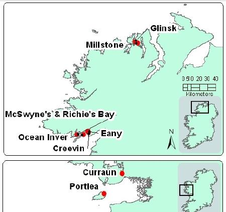 Sea Lice data July 2014 #3 map