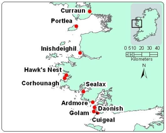 Sea Lice data June 2014 #2 map