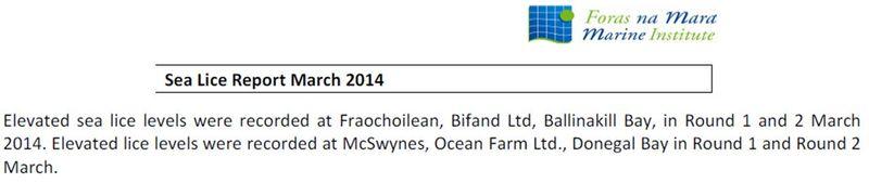 Sea Lice data March 2014 #1