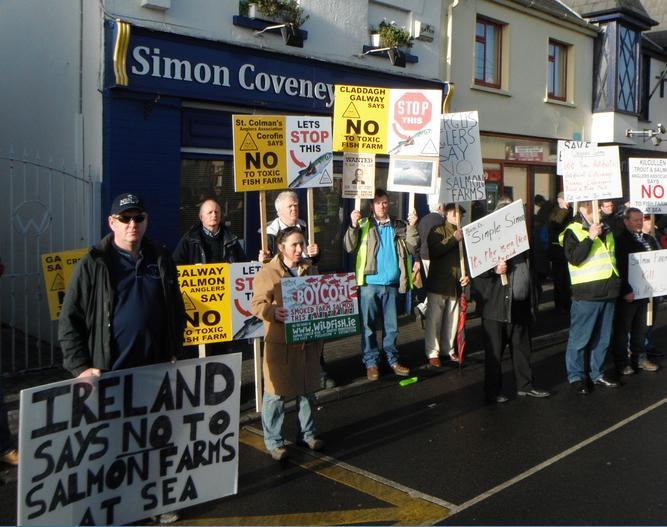 Simon Coveney protest