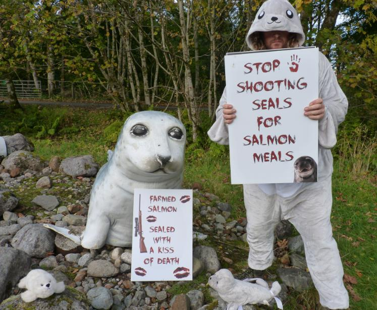 Photo #4 Don at seal sanctuary and two signs