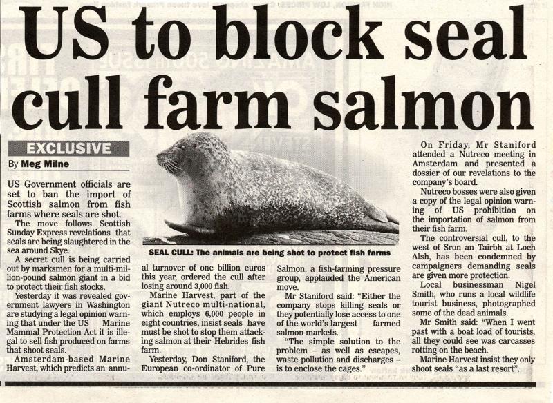 Sunday Express ban story