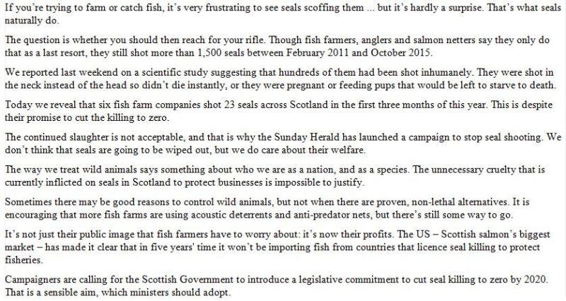 Sunday Herald 11 Sept 2016 #Editorial #2