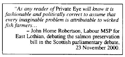 Old Trout Parliamentary mention