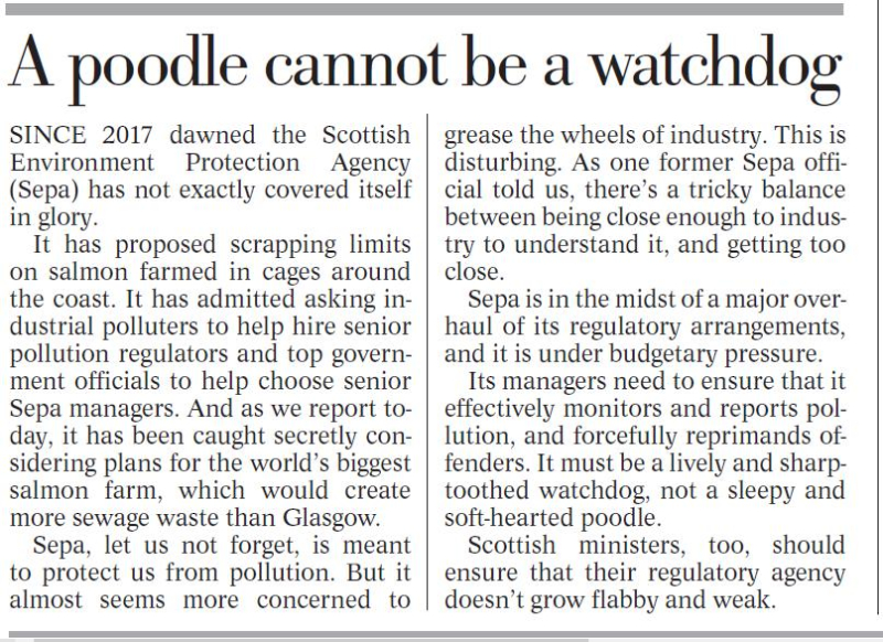 Sunday Herald 5 Feb 2017 Editorial comment