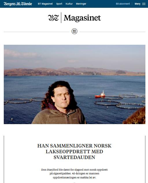 Bergens Tidende 12 Feb 2017 magazine cover