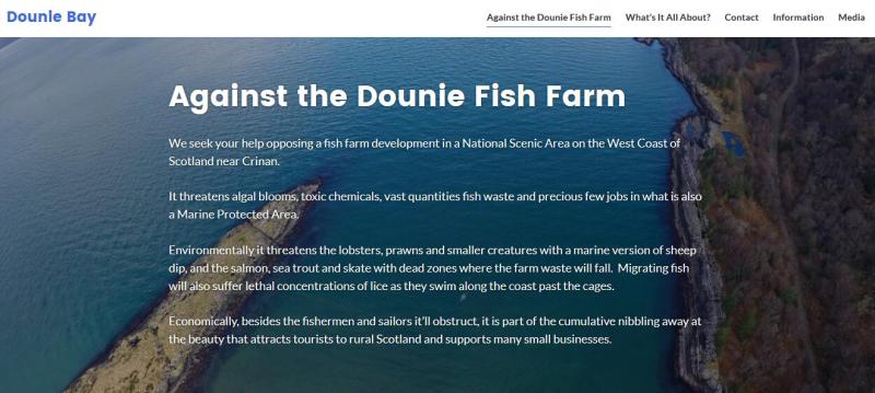 Dounie Bay web-site