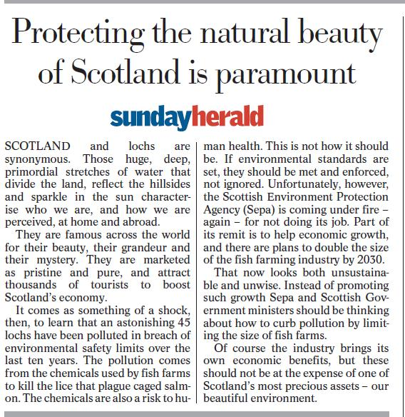 Sunday Herald 26 Feb 2017 Leader comment