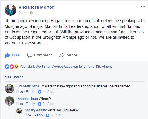 Morton on Horgan meeting