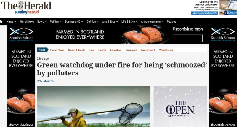 Sunday Herald 3 December 2017 #1 headline with SSPO ad