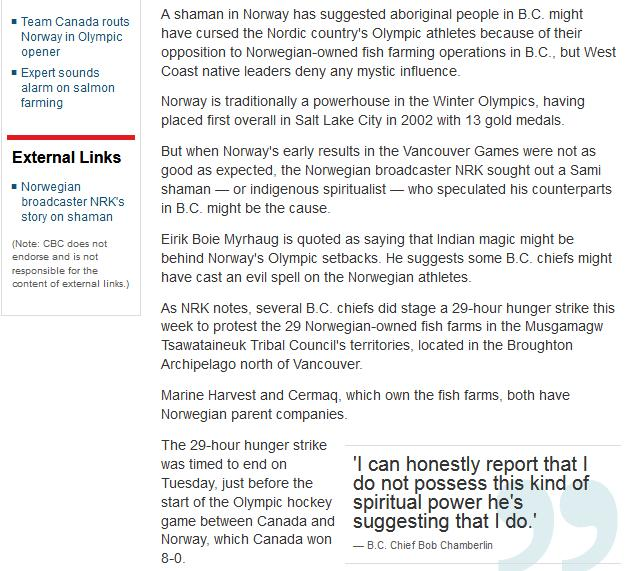 Olympic blog #13 cbc