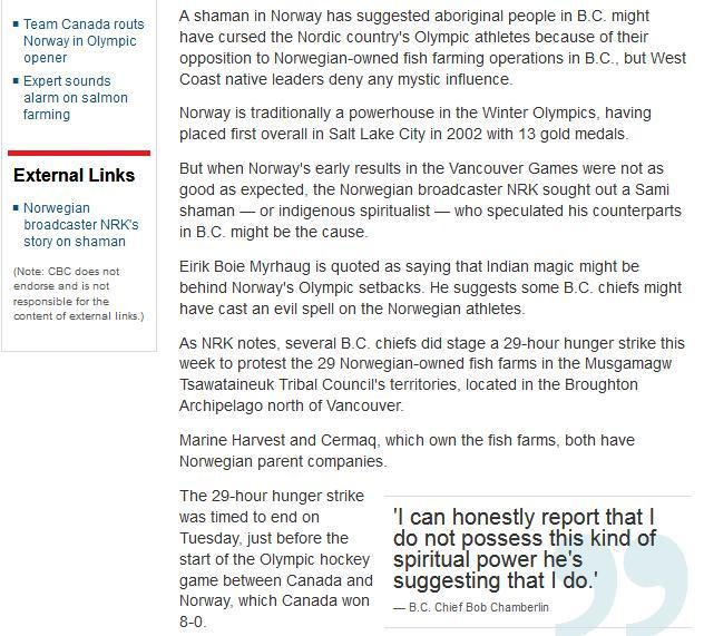 Olympic blog #13 cbc