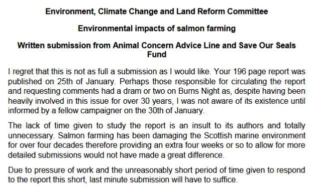 Sp written evidence Animal Concern #1