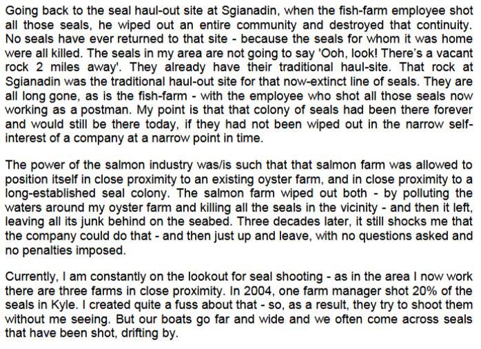 Sp written evidence Seaprobe #2