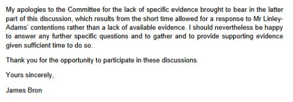 SP recc 14 March evidence agenda Bron #7