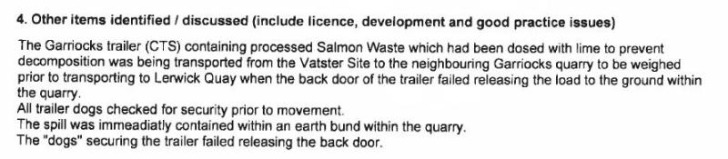 Shetland FOI documents SEPA compliance assessment #2