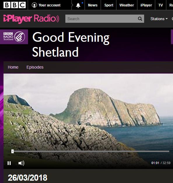 BBC Radio Shetland 26 March 2018 #1 online version