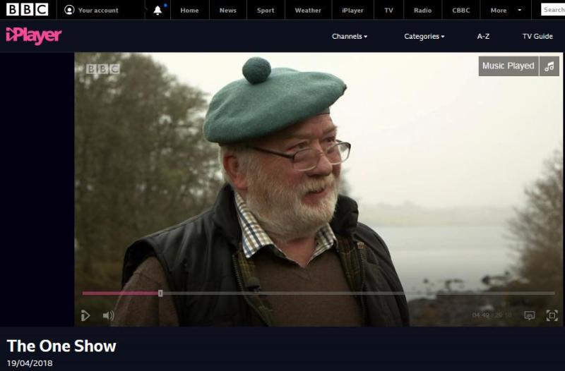 BBC One Show 19 April 2018 #3 Derek Dowsett