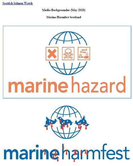 Media Backgrounder Marine Harmfest Scotland May 2018 #1 front cover
