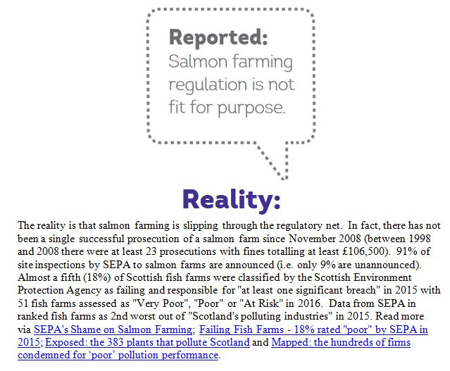 Reported Vs Reality Rebuttal by Scottish Salmon Watch 18 May 2018 #11