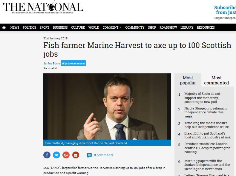 The National on job losses