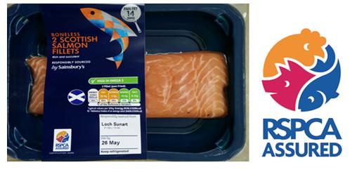 Sainsburys RSPCA salmon