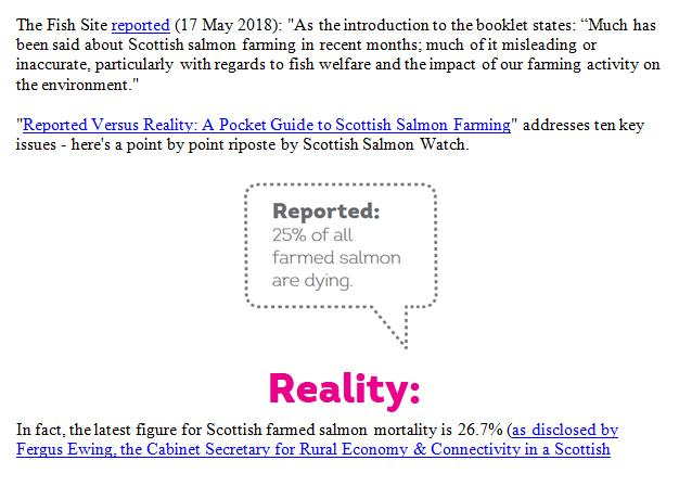 Reported Vs Reality Rebuttal by Scottish Salmon Watch 18 May 2018 #2