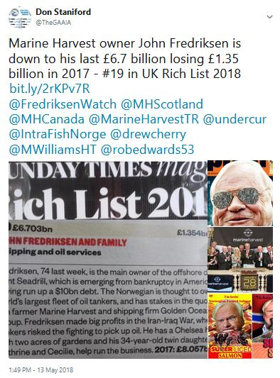 Tweet re Fredriksen down to last 6