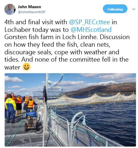 Tweet by John Mason re MH visit 30 April 2018