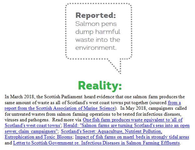 Reported Vs Reality Rebuttal by Scottish Salmon Watch 18 May 2018 #7