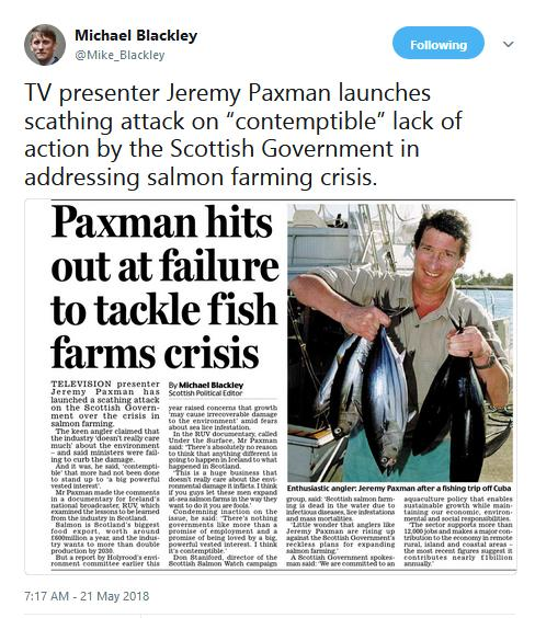 Daily Mail 21 May 2018 Paxman hit out Tweet from Michael Blackley