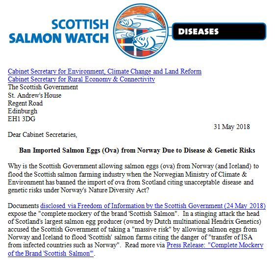 Letter to Scottish Government re