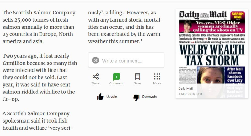 Daily Mail Suffering Salmon 5 September 2018 #5