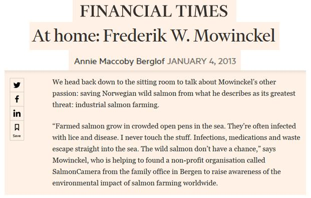 Frederick Mowinckel in FT quote #1
