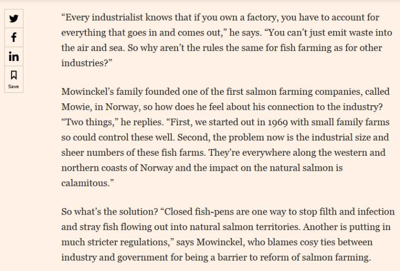 Frederick Mowinckel in FT quote #2