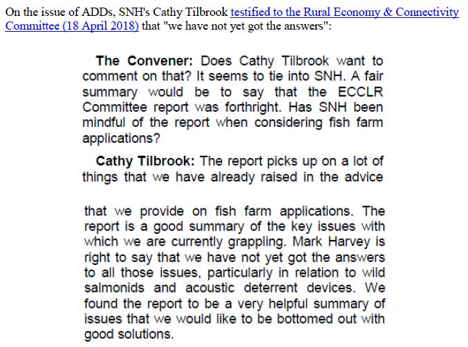 Media Advisory Sounding Off About Scotland's Noisy Salmon Farms 11 June 2018 #7