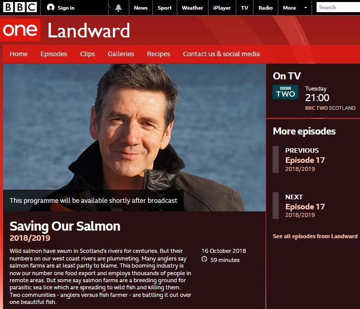BBC Landward 16 October 2018 iplayer page