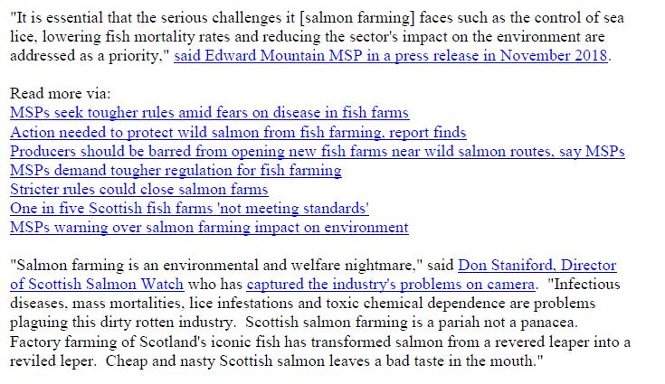 PR Parliament Grills Scottish Salmon 5 Feb 2019 #3