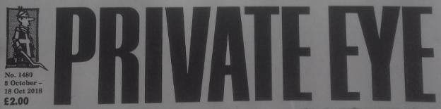 Private Eye 5 October 2018 banner