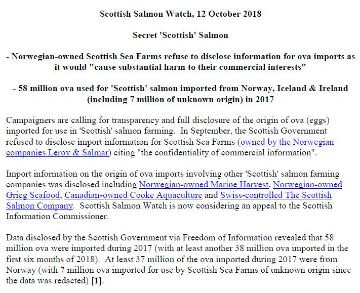 PR Secret Scottish Salmon 12 Oct 2018 #1
