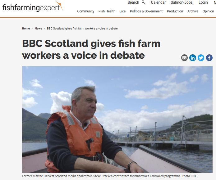 Fish Farming Expert on BBC Landward Oct 2018 #1